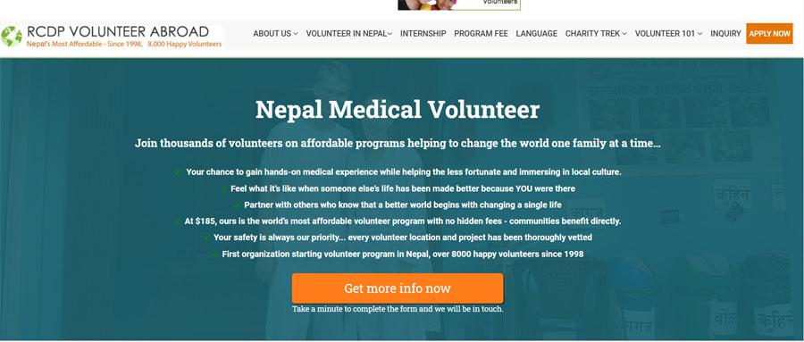 rcdp nepal medical volunteer