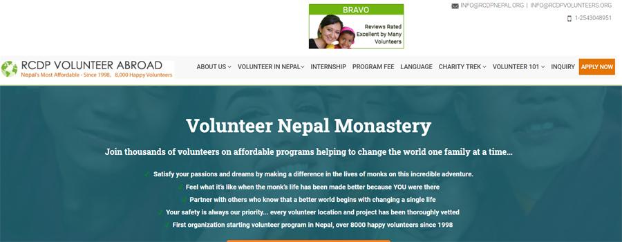 nepal volunteer monastery