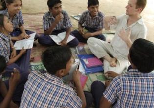 Teaching Underprivileged Children in India
