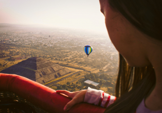 Full-Day Teotihuacan Hot Air Balloon Tour from Mexico City